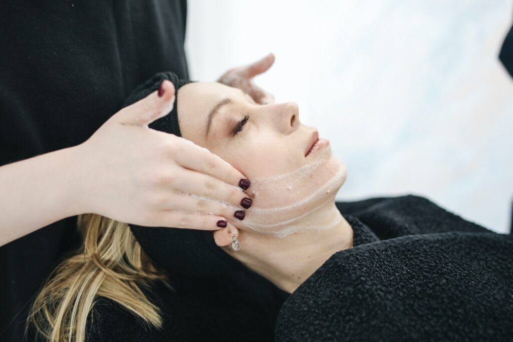 Facials - Step by step skin care routine
